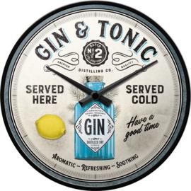 Gin & Tonic Served Here Wandklok 31 cm