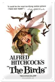 Alfred Hitchcock's The BirdsMetalen wandbord in reliëf 20x30 cm