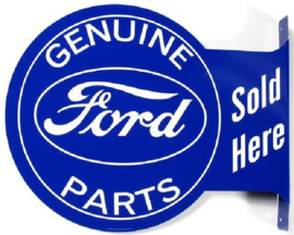 Ford Parts Sold Here.  Aluminium uithangbord 34 x 45 cm.