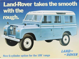 Land Rover (2) Metalen wandbord 30 x 41 cm.