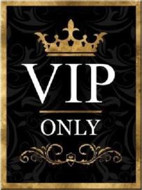 VIP Only. Koelkastmagneet 8 cm x 6 cm.