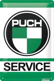 Puch Service.  Metalen wandbord  20 x 30 cm.
