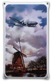 KLM Molen Emaille Reclamebord 20 x 33 cm.