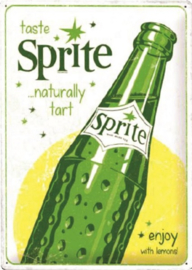 Sprite Enjoy With Lemons.  Metalen wandbord in reliëf 30 x 40 cm.