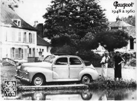 Peugeot 205 1948 a 1960  Metalen wandbord 15 x 20 cm.