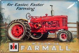 McCormick Farmall Metalen wandbord  20 x 30 cm.