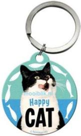 Happy Cat Sleutelhanger