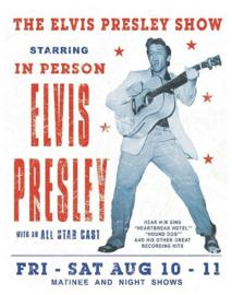 Elvis Presley Show.  Metalen wandbord 31,5 x 40,5 cm.