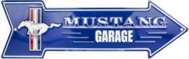 Mustang Garage  Aluminium pijl 51 x 14,5 cm