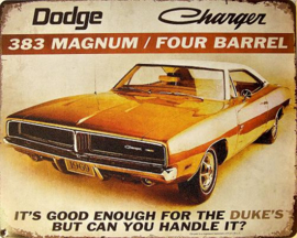 Dodge Charger 383 Metalen wandbord 38 x 30,5 cm.
