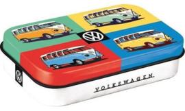 Pepermunt doosje VW Bulli Pop Art.