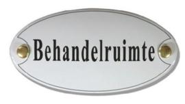 Behandelruimte Emaille Naambordje 10 x 5 cm Ovaal