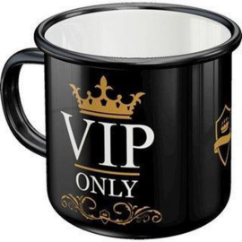 VIP Only. Emaille Drinkbeker.