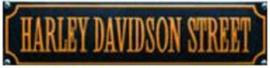 Harley Davidson Street Oranje Emaille bordje.