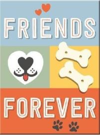 Friends Forever. Koelkastmagneet 8 cm x 6 cm.