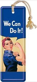 We Can Do It  Metalen boekenlegger 15 x 5 cm