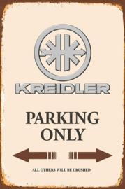 Kreidler Parking Only Metalen wandbord  20 x 30 cm.