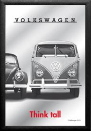 Volkswagen Think Tall Spiegel 22 x 32 cm.