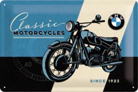 BMW Classic Motorcycles Metalen wandbord in reliëf 20 x 30 cm