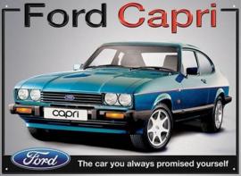 Ford Capri.Metalen wandplaat 40 x 30 cm