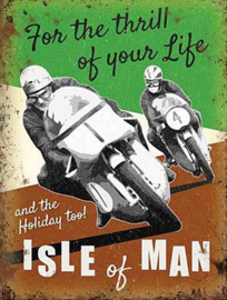 Isle Of Man. For The Thrill Of Your Life. Metalen wandbord 30 x 40 cm.