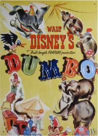 Dumbo Metalen wandbord 31,5 x 42,5 cm.