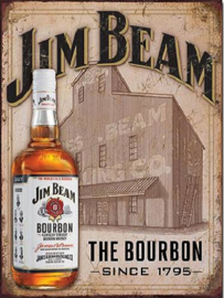 Jim Beam Still House .  Metalen wandbord 40,5 x 31,5 cm.