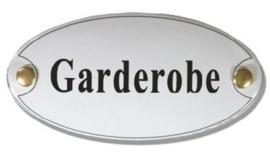 Garderobe Emaille Naambordje 10 x 5 cm Ovaal