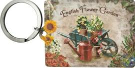 English Flower Garden  Sleutelhanger.