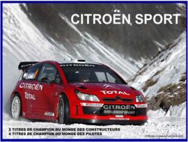 Citroen Sport 2 Metalen wandbord 30 x 40 cm.