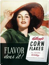 Kellogg's Corn Flakes Metalen wandbord in relief 40 x 30 cm
