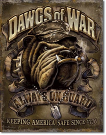 Dawgs of War Metalen wandbord 31,5 x 40,5 cm.
