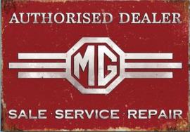 MG Authorised Dealer Metalen wandbord 30 x 41 cm.