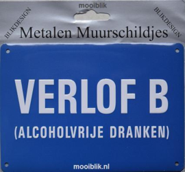 Verlof B Alcoholvrije dranken