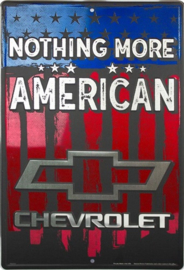 Chevrolet Nothing More American. Aluminium wandbord 30,5 x 45,7 cm.