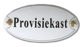 Provisiekast Emaille Naambordje 10 x 5 cm Ovaal