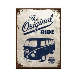 VW The Original Ride. Koelkastmagneet 8 cm x 6 cm.