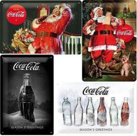 Coca Cola Special Kerst Edition 4  Metalen wandborden