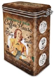 Coffee House Gran Gusto D'italia Bewaarblik met beugelsluiting