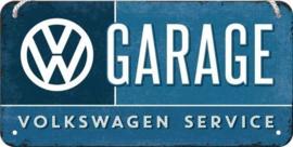 VW Garage  Metalen wandbord 10x20 cm.