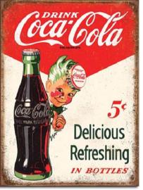 Coca Cola Sprite Boy .  Metalen wandbord 31,5 x 40,5 cm.