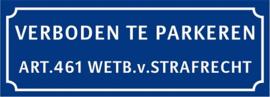 Verboden te parkeren (Blauw)