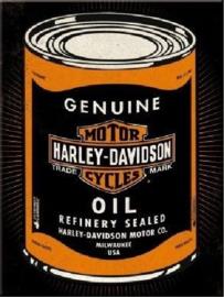 Harley Davidson Motor Oil. Koelkastmagneet 8 cm x 6 cm.