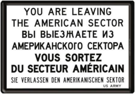 You Are Leaving American Sector Metalen Postcard 10  x 14 cm