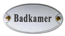 Badkamer Emaille Naambordje 10 x 5 cm Ovaal