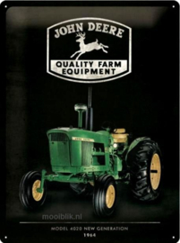 John Deere Quality Farm Equipment 1964 Metalen wandbord in relief 40 x 30 cm
