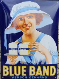 Blue Band. Emaille Reclamebord 35 x 50 cm.