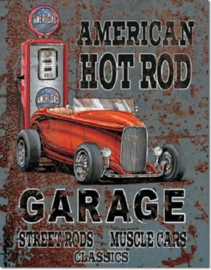 American Hot Rod Metalen wandbord 31,5 x 40,5 cm.