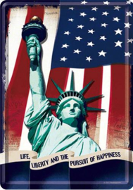 Statue of Liberty Metalen Postcard 10 x 14 cm.