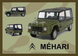 Citroën Mehari Army Metalen wandbord 15 x 20 cm.